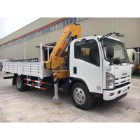 Quality ISUZU Mobile Crane Truck , Mounted Crane Truck With Folded Arm XCMG Crane for sale