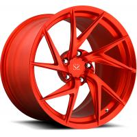 Quality Porsche Forged Wheels Red Customized 20 Staggered Car Alloy Rims For Porsche 911 Turbo for sale