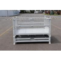 Quality IBC Foldable Pallet Container Stackable Pallet Cage 50 * 50mm Wire Size for sale