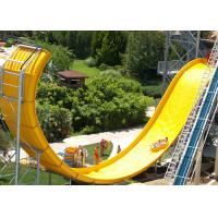 Quality Great Fun Fiberglass Raft Outdoor Wave Water Slide For Amusement Project for sale