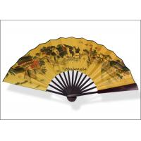 China 13' Silk Fabric Chinese Paper Fan Handwork Hanging Paper Fan Decorations on sale