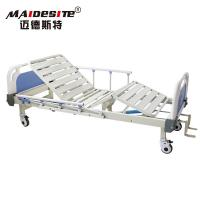 Quality Two Cranks Back Lifting Manual Hospital Bed Adjustable With ISO / CE / FDA for sale