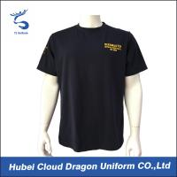 Quality 100% Polyester Men Police Officer T Shirts Printed Company Logo for sale