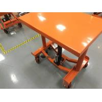 Quality Safety Hand Post Lift Table Hydraulic Workshop Platform For Smooth Finished Floors for sale