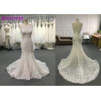 Quality Spring And Summer Elegant Mermaid Style Wedding Dress Floor Length Embroidery for sale