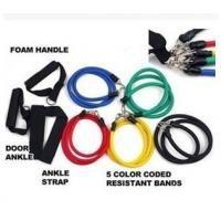 China Resistance fitness band kit for body building with door anchor on sale