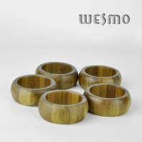 Quality WTB0315A Eco - Friendly Natural Round Bamboo Napkin Rings for sale