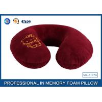 Buy cheap Embroidery Logo Memory Foam Sleep Pillow Travel Neck Pillow with Cartoon product