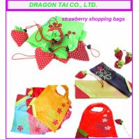 Buy Foldable strawberry drawstring pouch, drawstring nylon bag, sew drawstring  bag at wholesale prices