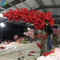 One Side Long Canopy Artificial Flower Tree , Customized Cherry Blossom Tree for sale