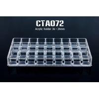 China Acrylic 36 Holes Transparent  Permanent Make Up Tattoo Ink Cup Holder on sale