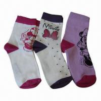 Quality Childrens' Socks with Cartoon Design for sale