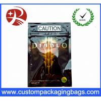 Quality Ddiablo Herbal Incense Plastic Ziplock Bags Reclosable Poly Bags , Black Pink for sale
