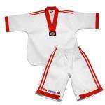 Quality White Cotton Adult WTF Taekwondo Uniform Emboidery 110cm to 210cm for sale