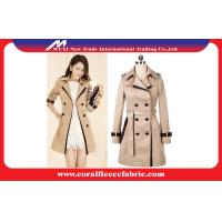 China Double Breasted Long Trench Jacket Womens Winter Outerwear , Waterproof on sale