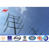 Quality 40FT NGCP Steel Utility Pole 3mm GR65for 55KV Power Distribution for sale