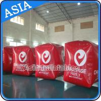 China Inflatable Swim Buoy In Cube Shape For Water Triathlons Advertising on sale