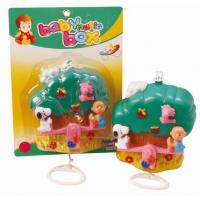 Quality Safe Material Baby Pull String Bell With Music Toy Plastic Cartoon Bell Toy for sale