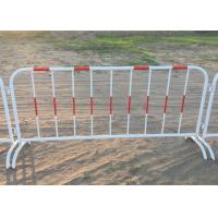 Buy cheap Mobile Traffic Barriers 1.1m Height Security Fence Galvanized Tube from wholesalers