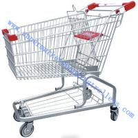 Quality Tesco Germanic Style Grocery Store Shopping Cart , Zinc Powder with Safety Belt for sale