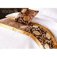 China Decoration King Size Hotel Satin Bed Runners And Cushions 100% Polyester on sale