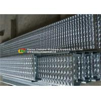 Quality Bolted Fixing Serrated Galvanized Stair Tread , Anti Slip Steel Grate Stair Treads for sale