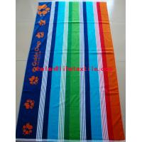 China 100% cotton yarn dyed stripe beach towel , 100x180cm , GSM500 on sale