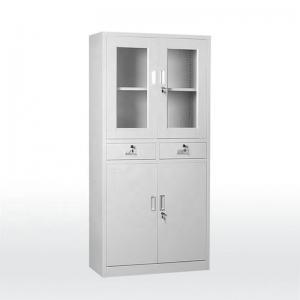 Quality Glass Door 0.160 CBM 45kgs Capacity Metal Filing Cupboard for sale