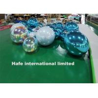 China Customized Hanging Mirror Ball Balloons Red / Purple / Pink / Green PVC For Stage Events on sale