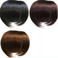 Quality Black And Brown Custom Human Hair Wigs / 100% Remy Virgin Hair Fringe Wig for sale
