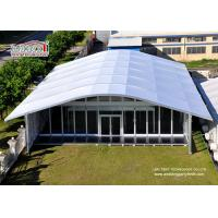 Quality Arch Large White Tent With Glass Wallss And Doors For Elegant multiply Outdoor Events for sale