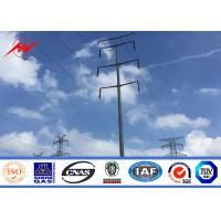China Double Arms Multisided  ISO 20 M Galvanized Steel Pole Electric Transmission Power on sale