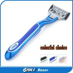 Quality Ce ladies shaving razor women lady shavers 5 blade metal handle for sale