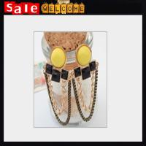 Quality Large Opal Metal Long Chain Pendant Drop Earring Women Wedding Party Dress Fashion Jewelry for sale