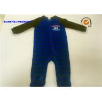 Quality Fall / Winter Baby Footed Pajamas , Long Sleeves Newborn Pram Suit Sample Approval for sale