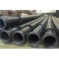 China qualified black hdpe dredge pipes with stub ends on both sides on sale