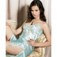 Quality Silk Short Night Gown (YHA048) for sale