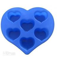 China Silicon Kitchen Ware, Heart Shaped Silicone Mould For Cake / Chocolate / Candle / Soap on sale