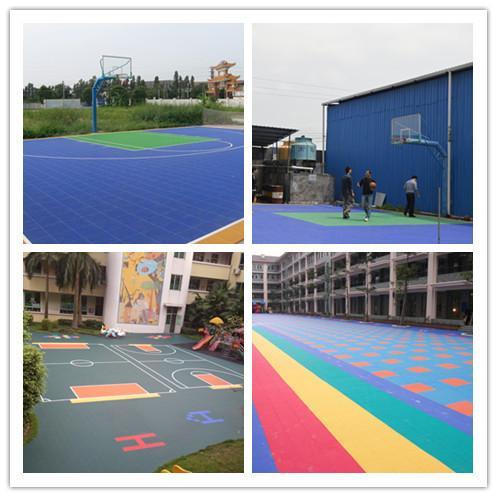 Multi Use Basketball Court Flooring Sport Equipment For