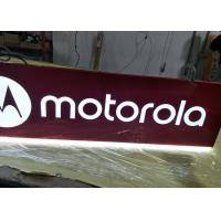 Quality Motorola Rectangular Shaped Sign Double Sides For Cellpone Store Custom Size for sale