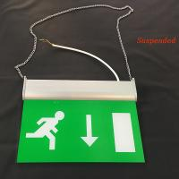 Quality Rechargeable Battery Powered Led Emergency Double Sided Exit Signs 110V - 127V for sale