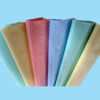Quality cross-lapping spunlace nonwoven fabric for kitchen cleaning wipes for sale