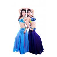 Quality Tie dye shinning beaded professional belly dance costumes with circle buckles design for sale