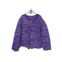 Quality Winter Thick Purple 7 Gauge Warm Young Girl Cardigan Buttons Knitwear Europe Style for sale