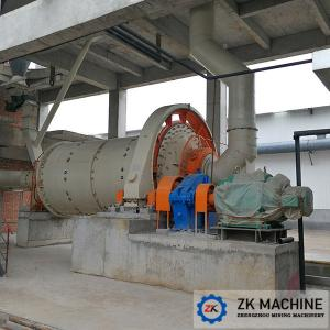 China Cylindrical Horizontal Ball Mill Grinder Large Diameter Inlet And Outlet Port on sale