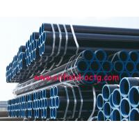 Quality api steel line pipe API 5L ASTM A53 A106 WITH BLACK COATING BEVELLED ENDS AND CAPS for sale