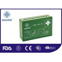 Quality Green ABS Box family first aid kit Germany Standard DIN 13164 Easy To Carry And Hang for sale