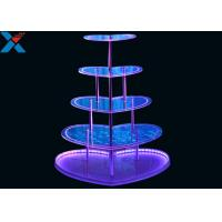 Quality Heart Shape Perspex Display Stand  , 5 Layers Champagne Acrylic Display Shelves for sale