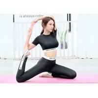 China Quick Dry Sportswear Tracksuit , Summer Fitness Active Gym Suit For Ladies on sale