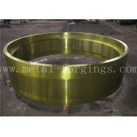 Quality C50 AISI1050 Carbon Steel Forged Ring Hot Rolled Cylinder Forged Disc / Pipe for sale